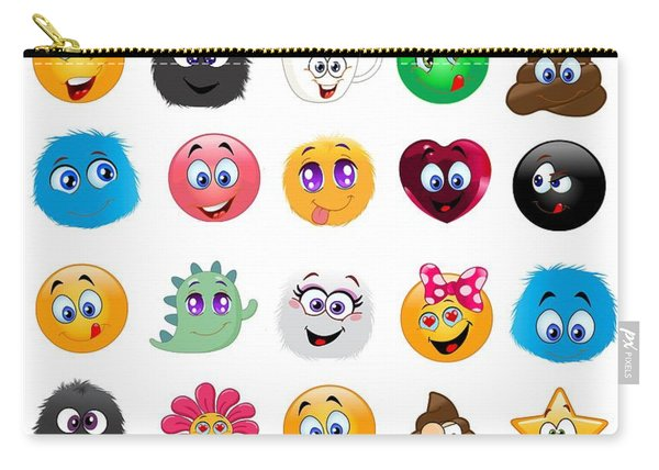 Emoji - Emoticons Carry-all Pouch