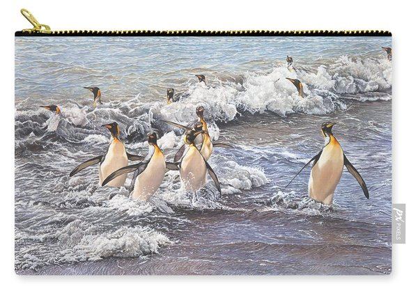 Emperor Penguins Carry-all Pouch