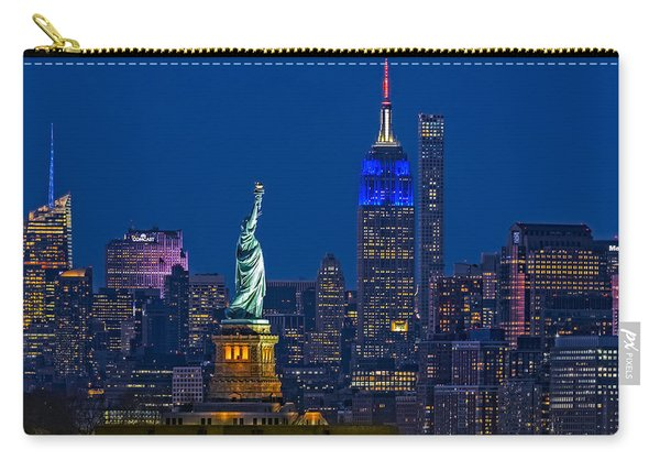 Empire State And Statue Of Liberty II Carry-all Pouch