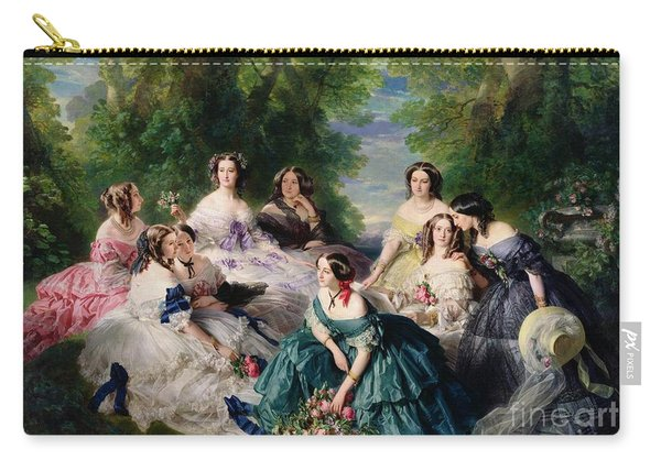 Empress Eugenie Surrounded By Her Ladies In Waiting Carry-all Pouch