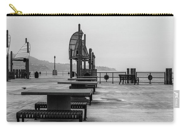 Carry-all Pouch featuring the photograph Empty Pier by Michael Hope