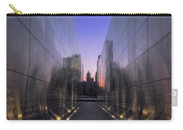 Carry-all Pouch featuring the photograph Empty Sky 911 Memorial by Tom Singleton