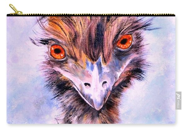 Carry-all Pouch featuring the painting Emu Eyes by Ryn Shell