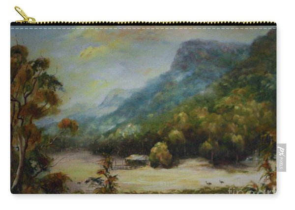 Carry-all Pouch featuring the painting Emu Plains, Grampians by Ryn Shell