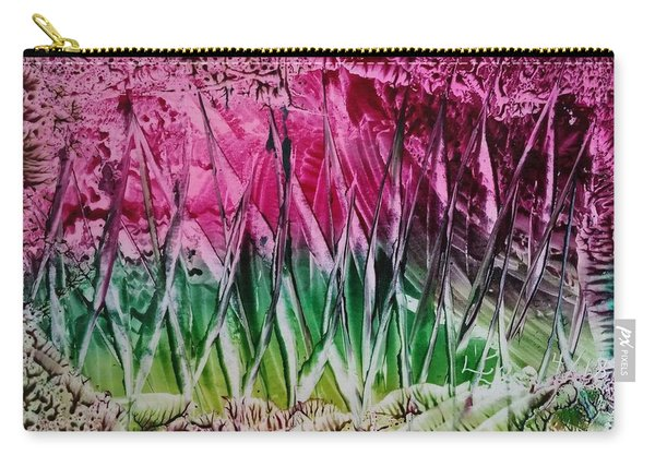 Encaustic Abstract Pinks Greens Carry-all Pouch