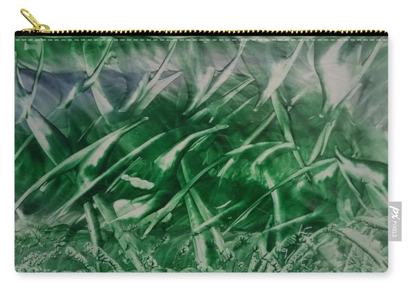 Encaustic Green Foliage With Some Blue Carry-all Pouch
