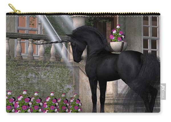 Enchanted Dark Unicorn Carry-all Pouch