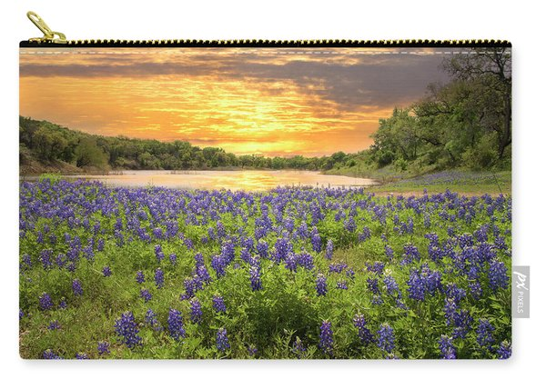 End Of A Bluebonnet Day Carry-all Pouch