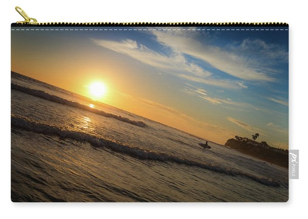 End Of Summer Sunset Surf Carry-all Pouch