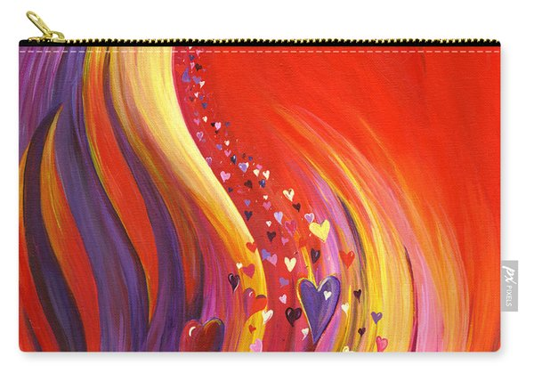 Carry-all Pouch featuring the painting Arise My Love by Nancy Cupp