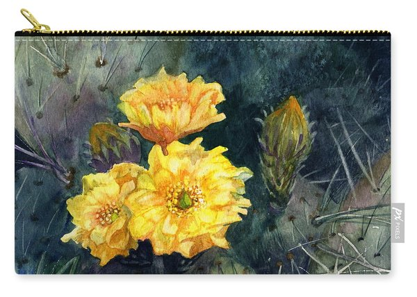 Engelmann Prickly Pear Cactus Carry-all Pouch