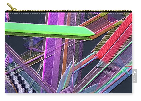 Carry-all Pouch featuring the digital art Engineer's Office by Visual Artist Frank Bonilla