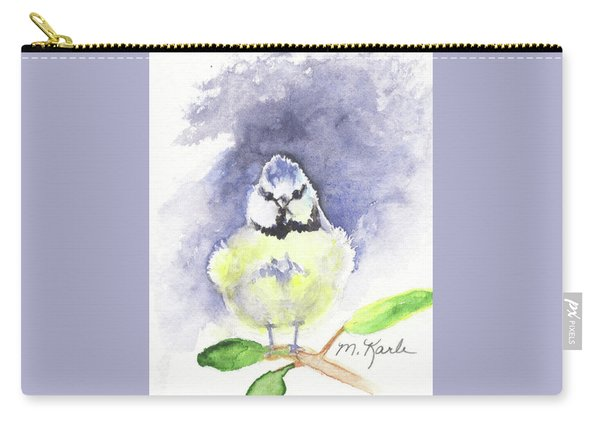 English Blue Tit Carry-all Pouch