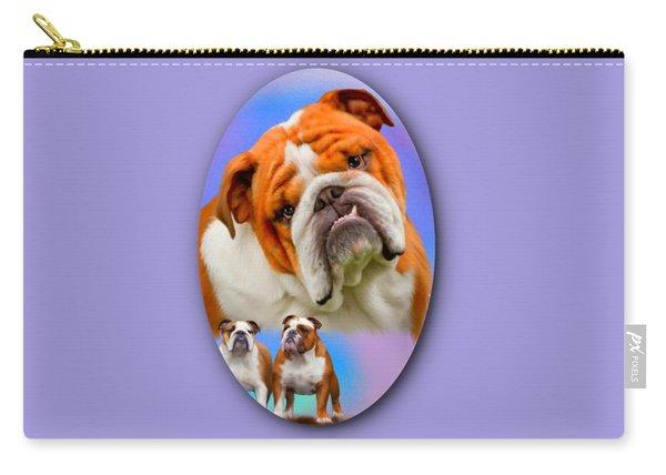English Bulldog- No Border Carry-all Pouch