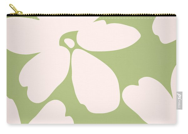 English Garden Floral Pattern Carry-all Pouch