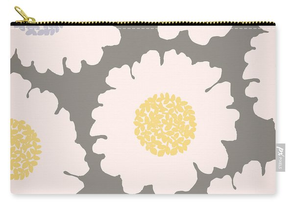 English Garden White Flower Pattern Carry-all Pouch