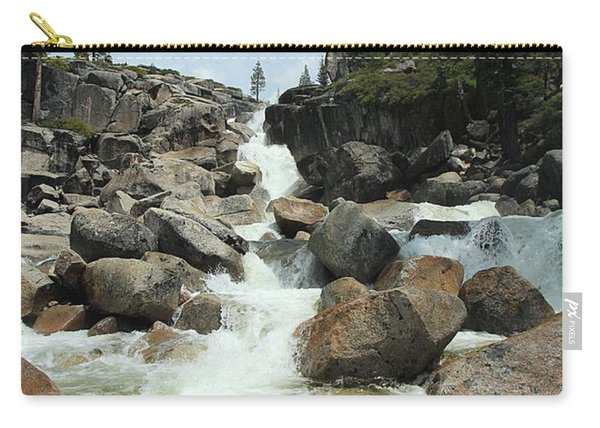 Carry-all Pouch featuring the photograph Enjoy A Waterfall by Sean Sarsfield
