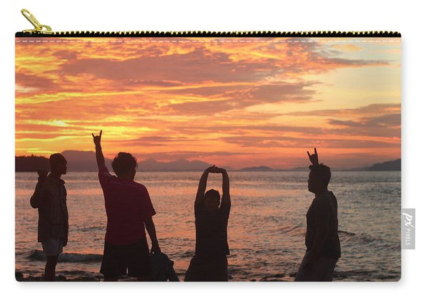 Enjoying Sunrise With Friends Carry-all Pouch