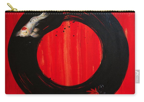 Enso With Koi Red And Gold Carry-all Pouch