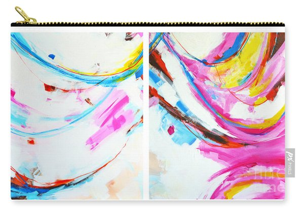 Entangled No. 8 - Diptych - Abstract Painting Carry-all Pouch