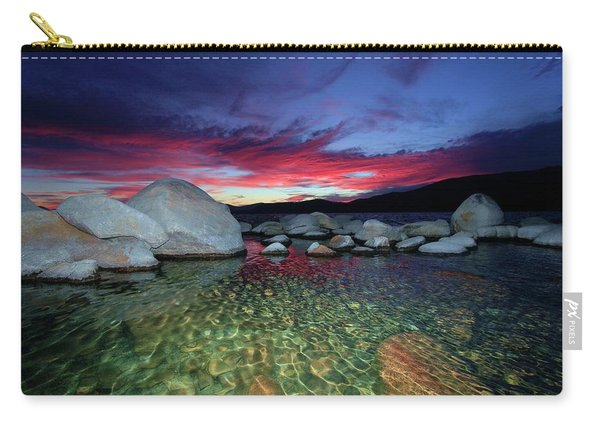 Carry-all Pouch featuring the photograph Enter A Tahoe Dream by Sean Sarsfield