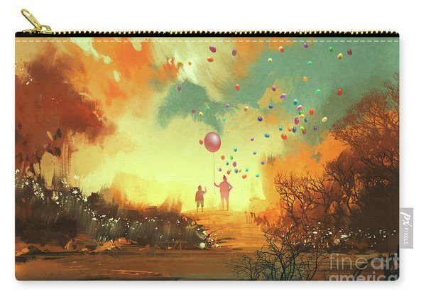 Carry-all Pouch featuring the painting Enter The Fantasy Land by Tithi Luadthong