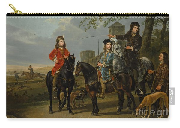 Equestrian Portrait Of Cornelis And Michiel Pompe Van Meerdervoort With Their Tutor And Coachman, St Carry-all Pouch