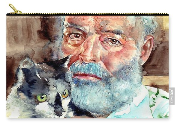 Ernest Hemingway Watercolor Carry-all Pouch