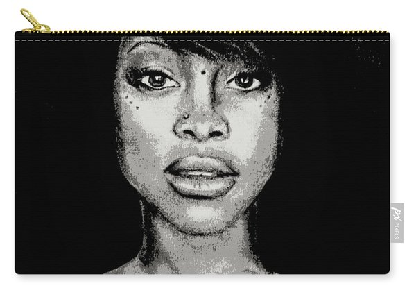 Erykah Baduism - Pencil Drawing From Photograph - Charcoal Pencil Drawing By Ai P. Nilson Carry-all Pouch