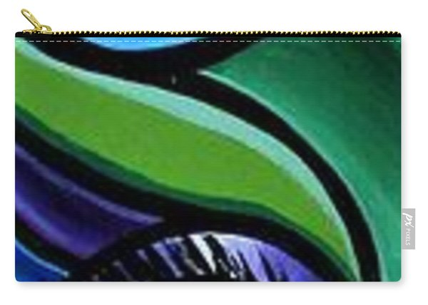 Colorful Abstract Art Painting, Modern Art Brown Eye Art Paintings Carry-all Pouch