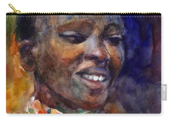 Ethnic Woman Portrait Carry-all Pouch