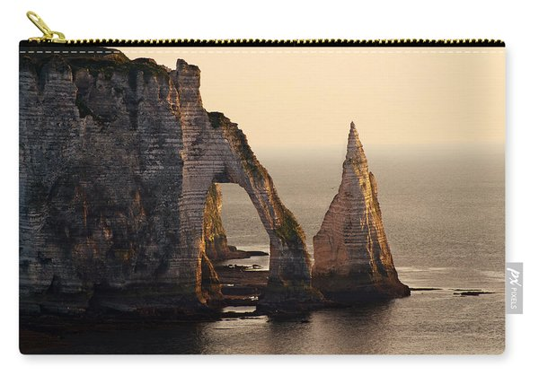 Carry-all Pouch featuring the photograph Etretat In Morning Sun by Jaroslaw Blaminsky