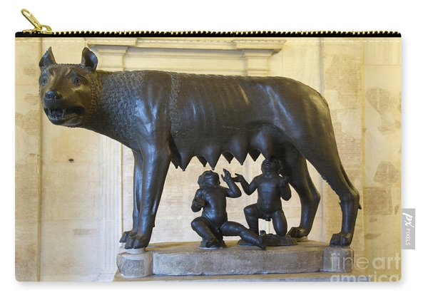 Etruscan Bronze Statue Of The She-wolf With Romulus And Remus. Capitoline Museum. Capitoline Hill. R Carry-all Pouch