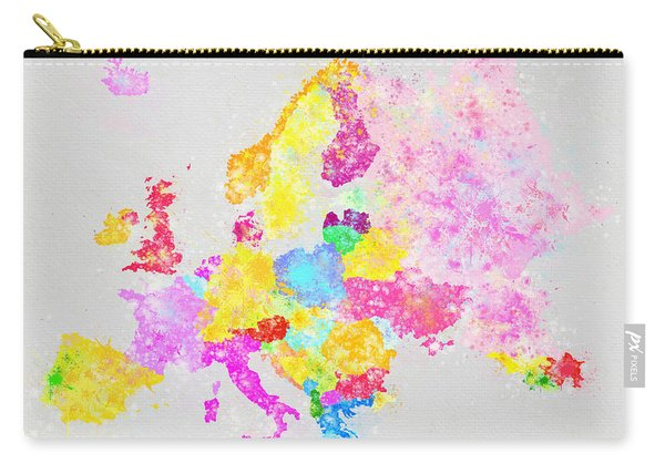 Europe Map Carry-all Pouch