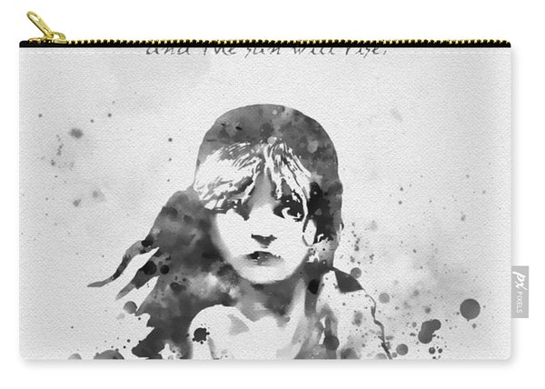 Even The Darkest Night Will End Black And White Carry-all Pouch