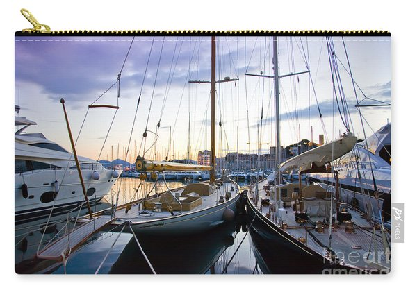 Evening At Harbor  Carry-all Pouch