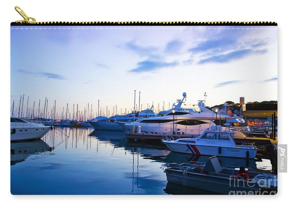 evening at water in Cannes Carry-all Pouch