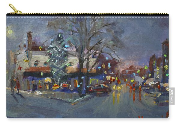 Evening At Webster And Main St Carry-all Pouch