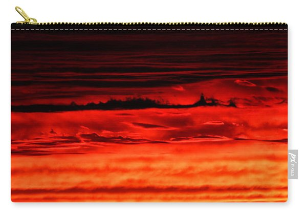 Carry-all Pouch featuring the photograph Evening Clouds by William Selander