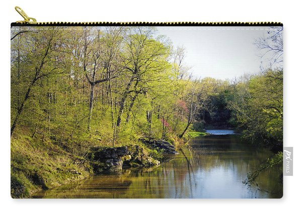 Evening Falls On Cedar Creek Carry-all Pouch