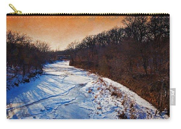 Evening Frozen Creek Carry-all Pouch