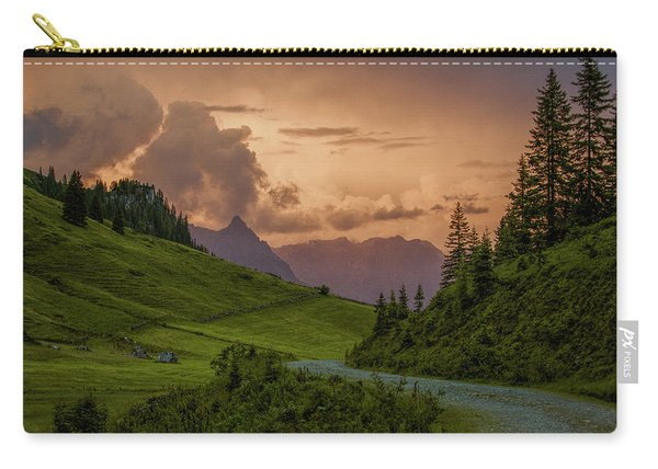 Evening In The Alps Carry-all Pouch