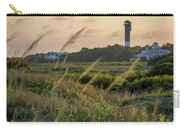 Carry-all Pouch featuring the photograph Evening Light Sullivan's Island by Donnie Whitaker