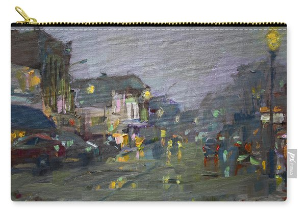 Evening Rain At Webster St Carry-all Pouch