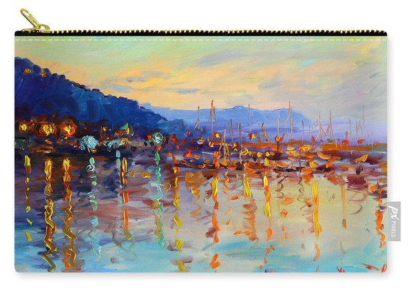 Evening Reflections In Piermont Dock Carry-all Pouch