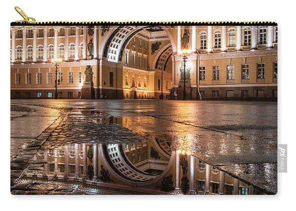 Carry-all Pouch featuring the photograph Evening Reflections by Jaroslaw Blaminsky