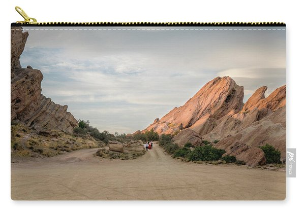 Carry-all Pouch featuring the photograph Evening Rocks By Mike-hope by Michael Hope