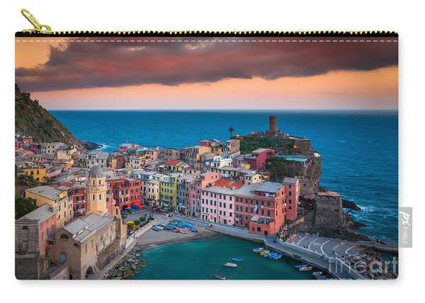 Evening Rolls Into Vernazza Carry-all Pouch