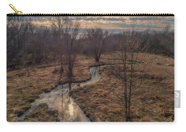 Evening Sun On The Creek Carry-all Pouch