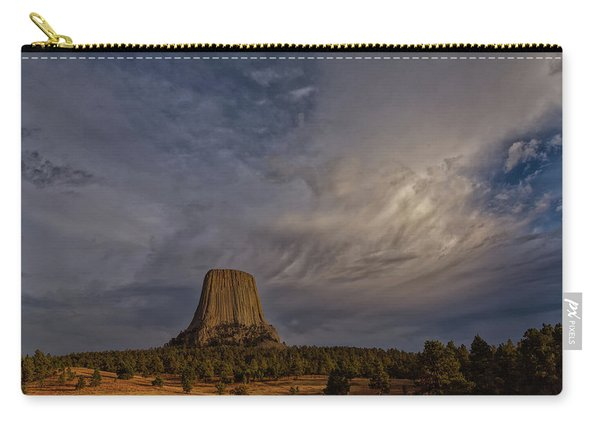 Evening Time At Devils Tower Carry-all Pouch